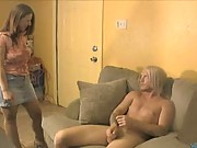 Lexxxi lockhart give a handjob with young guy