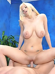 Hot 18 year old blonde gives a sensual massage and a happy ending!