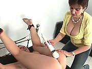 Bondaged mature lezdom orgasm tease