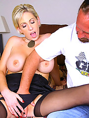 Suoer hot jewlery store milf gets her hot big tits creamed on after a hard fuck in these reality store fuck pics