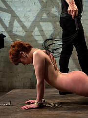 Redheaded sex slut takes hard dick for her master