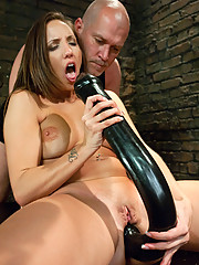 Double anal submissive sex with big toys and enema.