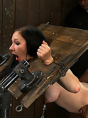 The amazing beautiful Charlotte, is put in stocks, ass hooked and fucked by ISIS love!!