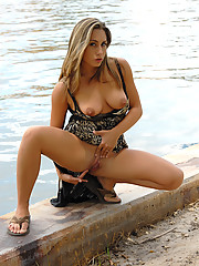 Renna gets naughty by the creek
