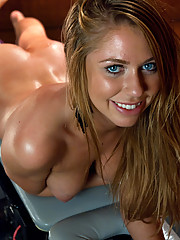 Brynn Tyler machine fucked to oblivion in her ass and pussy but a fast pounding, custom machine only found on fuckingmachines.com