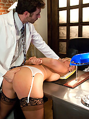 Sexy doctor gets double penetrated for fucking with a patient.