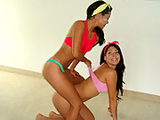 2 amazing hot little panties teens dance around the house in their hot skimpy undies in these hot teen dance movies