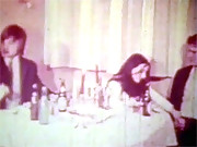 Babe having a horny dinner party in sixties