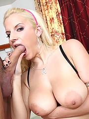 Blonde cunt getting fucked deep down the throat