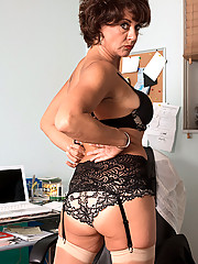 Busty Moms Stockings
