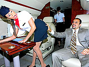 2 amazing smoking hot mini skirt lear jet hostesses get fucked hard after flirting in these hot 3some pussy licking in flight fucking 4 smoking hot cumfaced vids