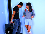 Super hot high school babe gets power fucked doggy style ber her tutor in this after class fucking hard ass slapping big 3 minute movie and pics