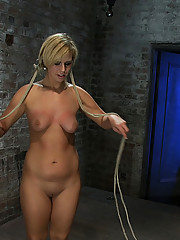 In the final scene of the July live show Tara is bound and spread, Isis Love strap-on fucks her then fists her to multiple orgasms!
