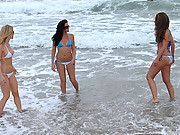 3 amazing hot white bikini teens get wet and play with eachother in the ocean in these 4 super hot teen ex girlfriend vids