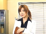 Misaki Inaba hot asian milf wants to be fucked in the office