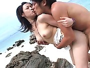 Asuka Kyono sucking his hard cock and eager to be fucked