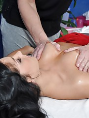 Super Sexy 18 year old cutey with a booty gets fucked hard from behind by her massage therapist
