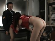 Yui Tatsumi spreads her legs and gets fingered hard