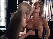 Two retro horny lesbians are playing together