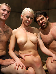 Lorelei Lee locks her husband away in chastity and fucks another man making him lick her pussy while she gets fucked!