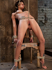Tiny Gia DiMarco suffers though a classic HOM tie.  This is old school bondage and suffering at its best.  The backbreaking crotch rope from HELL.
