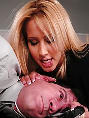 Pushy boss gets fucked by his secretary