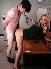Pushy boss gets fucked by his secretary
