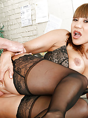Will Powers walks into the wrong class that Ava Devine is teaching and tells her he wants to be the head of the class.  She thinks to get far in her class he has to fuck her sweet Asian pussy.  Will rocks this hot teacher on her desk and gives it to her w