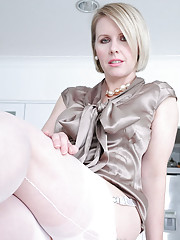 Silk and nylons british milf alison