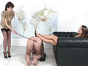 Lady sonia whpping old slaves ass