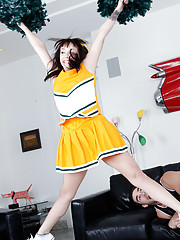Lindy Lane is practicing her cheer routine for her boyfriend