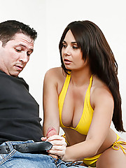 Holly West is staying at a hotel when she overhears a stranger fighting with his wife over the phone. His marriage is on the rocks and Holly is in heat so she decides to take advantage of his situation. He needs to relax and she needs some cock, so Holly