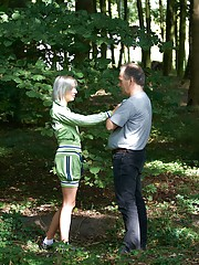 Innocent girl fucked outdoors in the forest