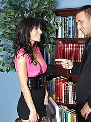 GIa is a corporate spy who has been hired to work for a rival company. Her beautiful low cut shirt is equipped with a broach camera. Gia gets caught looking through the filling cabinet and to save herself she has to give up her asshole.