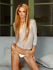 Tyra Banxxx strips off her white panties