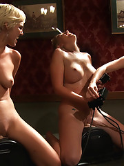 3 amateur girl pussy battle royal -Sybian fucking, infighting, cum sabotage along with extra fucking with the latest machine - THE FAUN