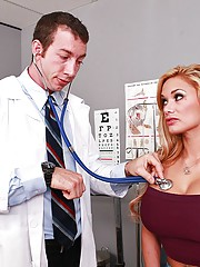 Shyla is visiting Doctor Ash due to her loss of sensitivity in her pussy. She explains that she over used her huge vibrator, so Dr. Ash does a few tests to see if he can stimulate her clit. Nothing works, so he decides to go for a more advanced treatment;