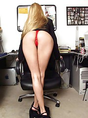 Jessica Drake sexy secretary spreads gash
