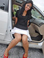 Super sexy latina gets picked up on the streets in her hot mini skirt then pounded hard in these hot reality fuck pics