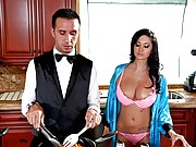 Ava is a smoking hot and very domineering MILF who orders her butler, Keiran, around like a slave. Keiran is subjected to further humiliation when Ava
