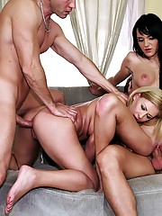 2 amazing hot body amateur babes get fucked and creamed in this hot 4some cock swapping facial fuck fest