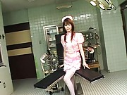 Ai Himeno cute nurse in pink stockings ready for creampie se