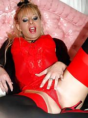 Michele In Red N Black Stockings