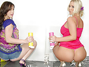 Check out amazing big tits smoking ass molly and her girl eat eachother out legs behind their head after getting wet and dirty in these hot paint fucking pics and big movies