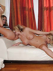 Amazing long leg lesbians fuck eachother at this holloween fucking 3some party hot pics