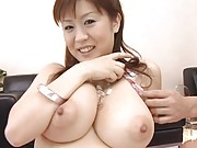 Nana Aoyama curvy tits are more than a handful for these guys