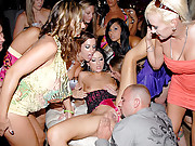 Hot fucking club babes alexis get licked pussy fucked and cumfaced in this group sex reality club fuck movie set