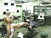 Japanese AV Model fucking the doctor in the operating room