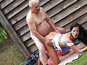 Cute farm assistant screwing her horny boss