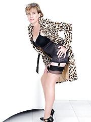 Corselette black lingerie mature